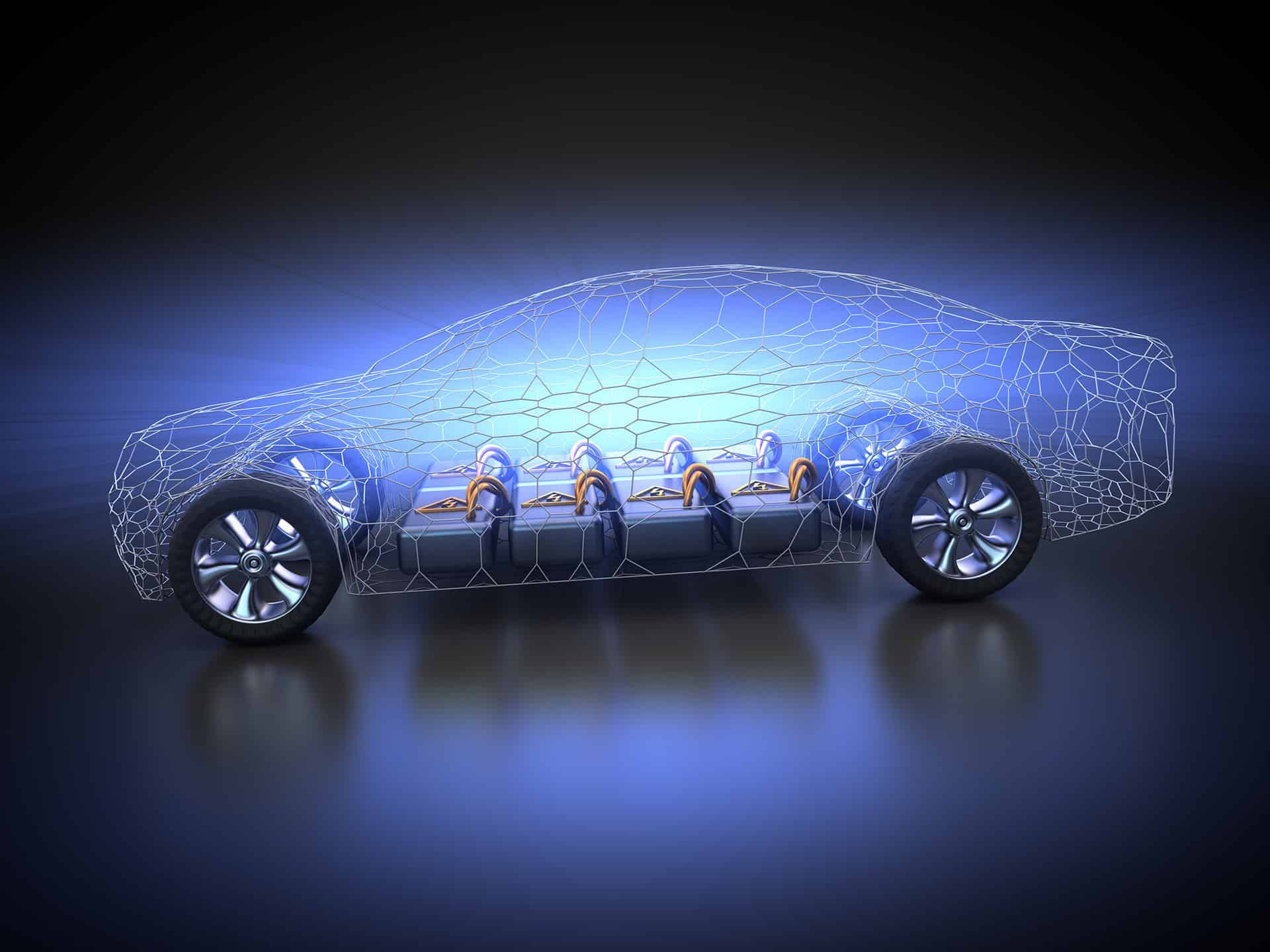 batérie, vozidlo, elektromobil