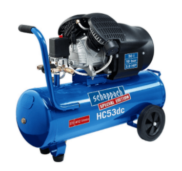 kompresor, prenosný kompresor, scheppach HC 53 dc, tlak