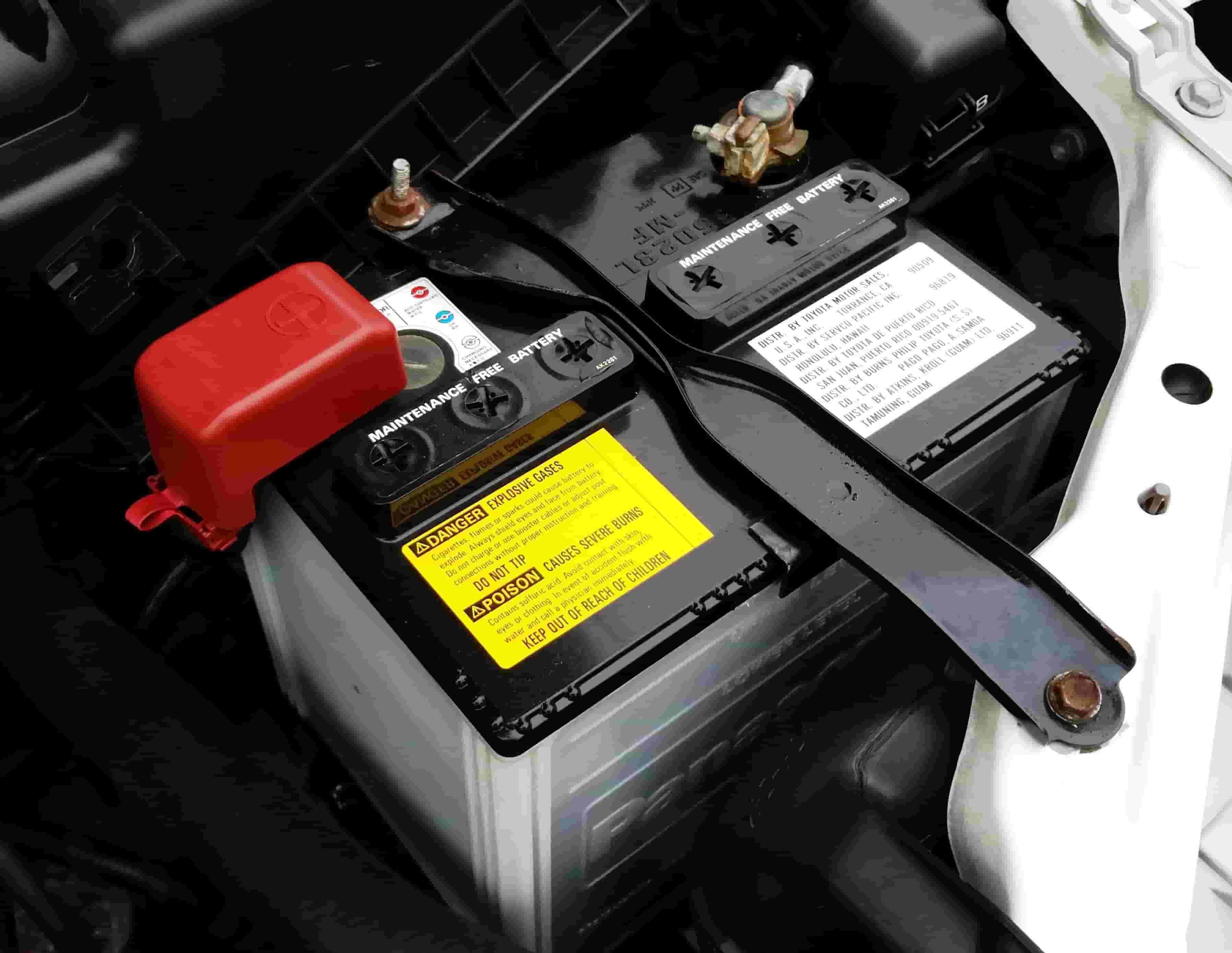 autobatéria, batéria vaute, kontrola autobatérie