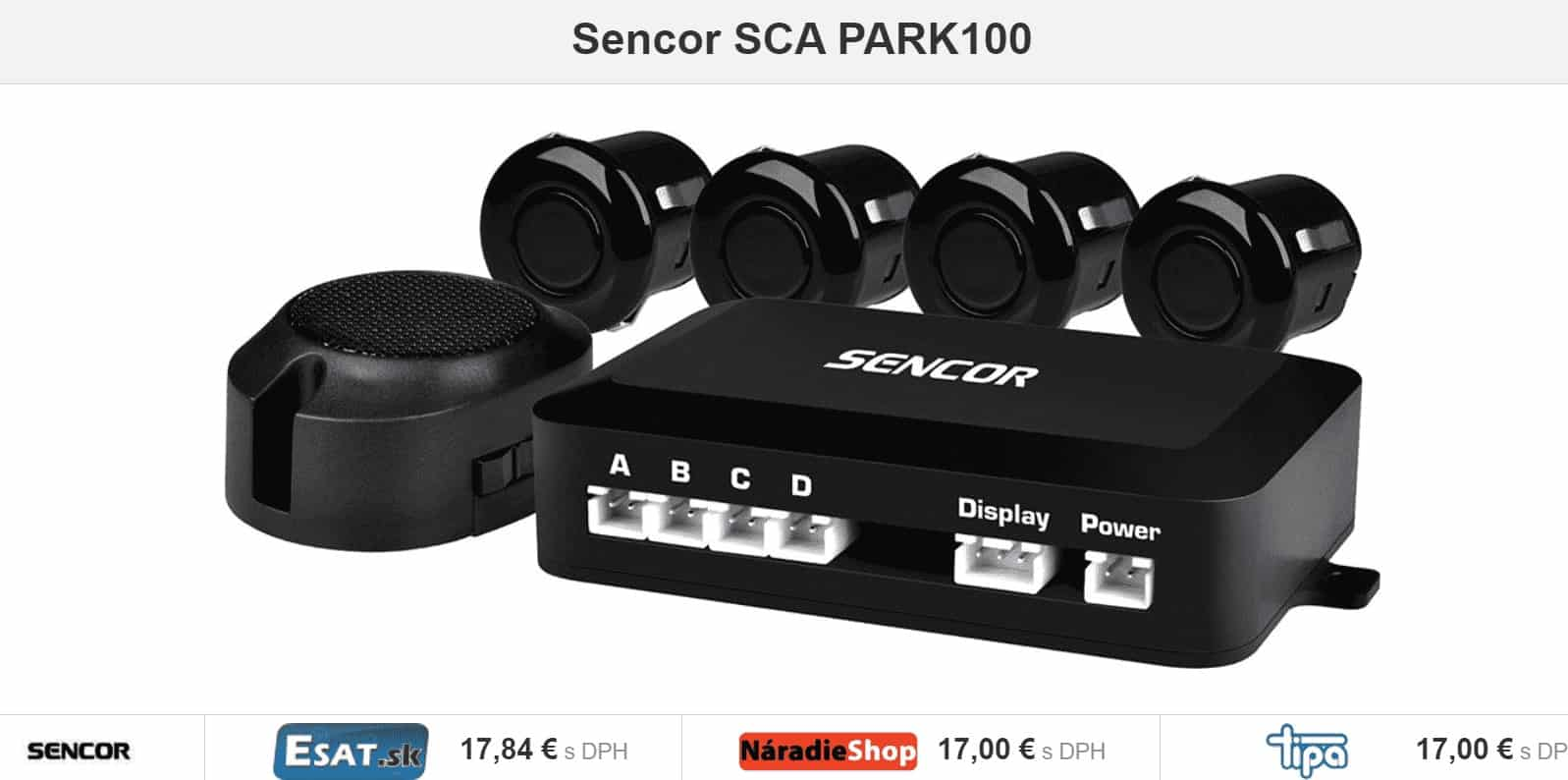 Sencor SCA PARK100, parkovacie senzory, parkovanie